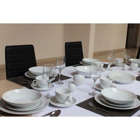 Quebec Astro - middag- kaffeservise til 6 personer, 30 deler