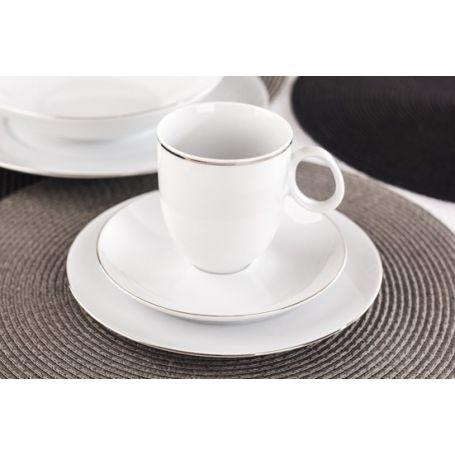 Quebec Platinum - middag- og kaffeservise til 6 personer, 30 deler