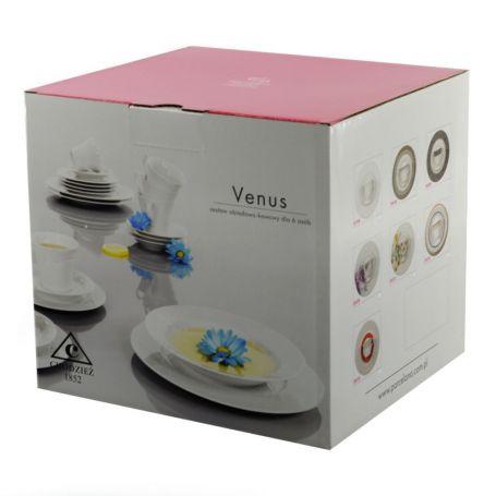 Venus Circus - middag- og kaffeservise til 6 personer, 30 deler