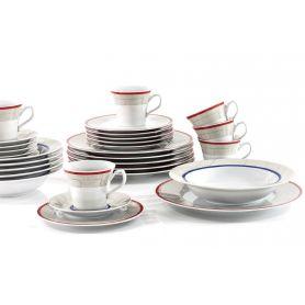 Venus Geo - middag- og kaffeservise til 6 personer, 30 deler