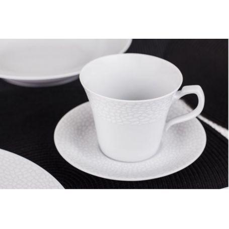 Venus Hvitt Hud - middag- og kaffeservise til 6 personer, 30 deler