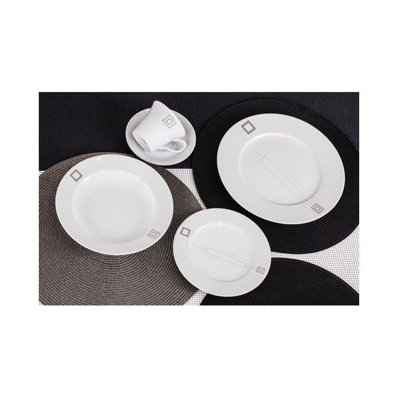 Venus Quadro - middag- og kaffeservise til 6 personer, 30 deler