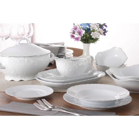 Rococo - middagsservise til 12 personer, 45 deler