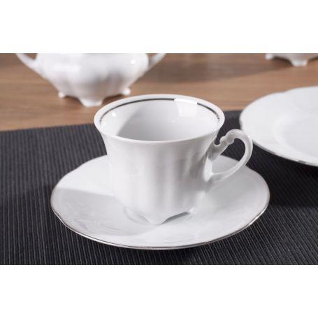 Bolero Platinum - kaffeservise til 12 personer, 39 deler