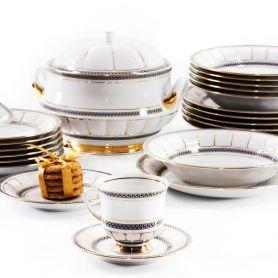 Berni Gull - middagsservise til 12 personer, 45 deler