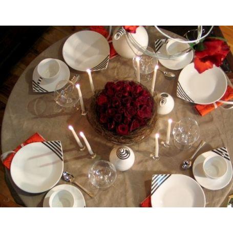 Dråppe - middagsservise til 12 personer, 44 deler