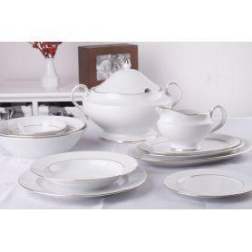 Astra Gul Linje - middagsservise til 12 personer, 45 deler