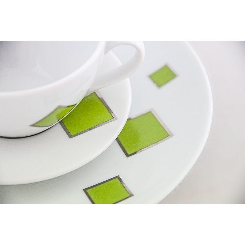 Grønne ruter - kaffeservise til 12 personer, 39 deler