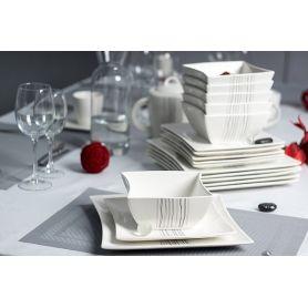 Silver Line - middag -og kaffeservise til 6 personer, 33 deler