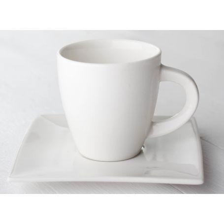 White - seks kopper + asjetter, 12 deler