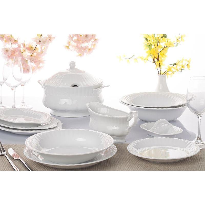 793b0439 Iwona Hvitt middagsservise til 12 personer, 55 deler - nettbutikk ...