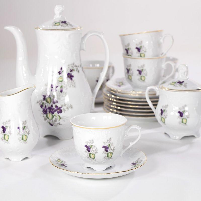 Rococo Fioler - kaffeservise til 12 personer, 39 deler
