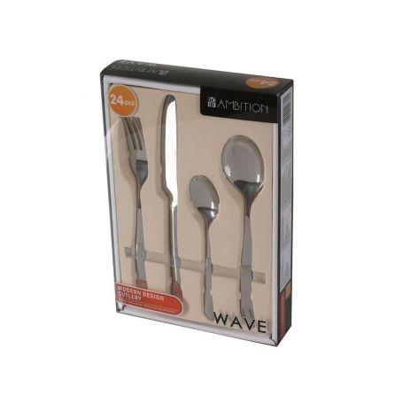 Wave Ambition - bestikksett til 6 personer, 24 deler