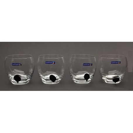 Luminarc Drip Black 300 ml  -   glass 4 deler