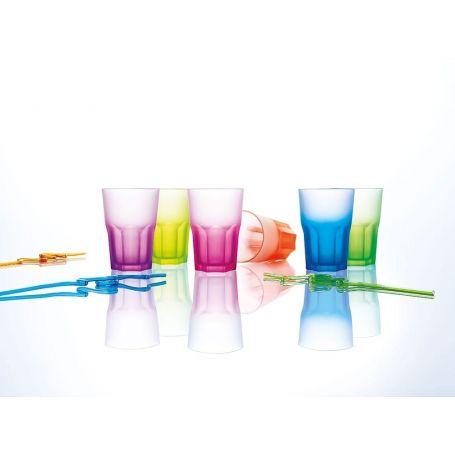 Luminarc America Techno Colors 400 ml  -   glass 6 deler