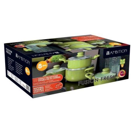 Kasseroller Fusion Fresh Full Green Ambition - 8 deler