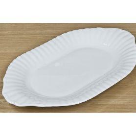 Iwona Hvitt - oval serveringsfat  39 cm