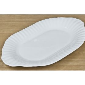 Iwona Hvitt - oval serveringsfat  24cm