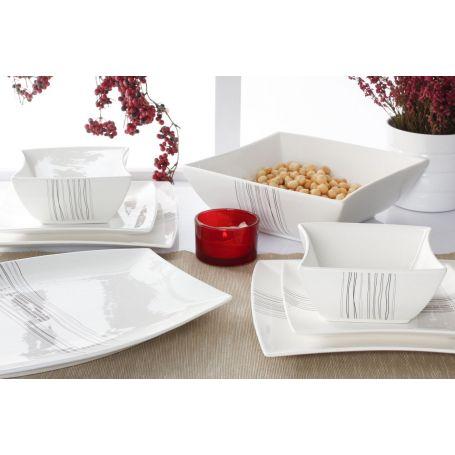 Silver Line - middagsservise til 12 personer, 40 deler