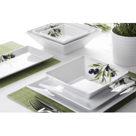 Lubiana Classic Oliwka- middag- og kaffeservise til 6 personer, 34 deler