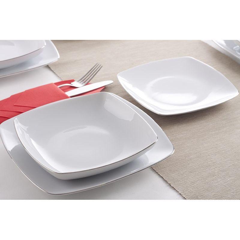 Akcent Platina - middagsservise til 6 personer, 18 deler