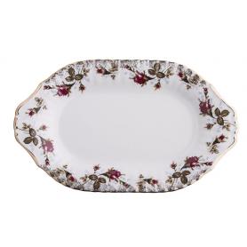 Iwona Rose - ovalt serveringsfat 28 cm