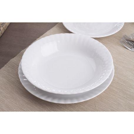 Iwona Hvitt - middagsservise til 6 personer, 18 deler