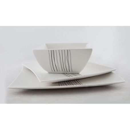 Silver Line - middagsservise til 6 personer, 18 deler