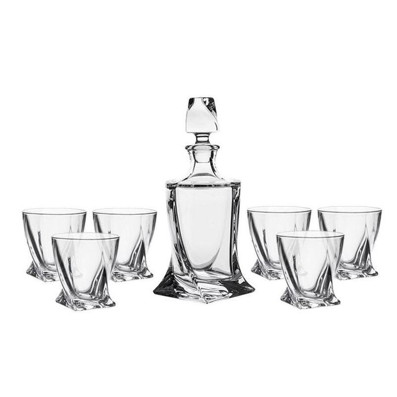 Whisky Crystalite Quadro sett - 7 deler