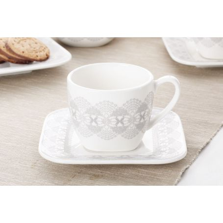 Azur - kaffeservise til 6 personer, 21 deler