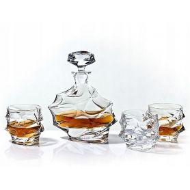Whisky Crystalite Calypso sett - 7 deler