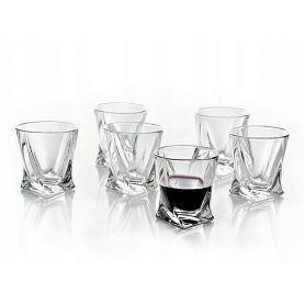 Drammeglass Crystalite Quadro 5,5 cl - 6 deler