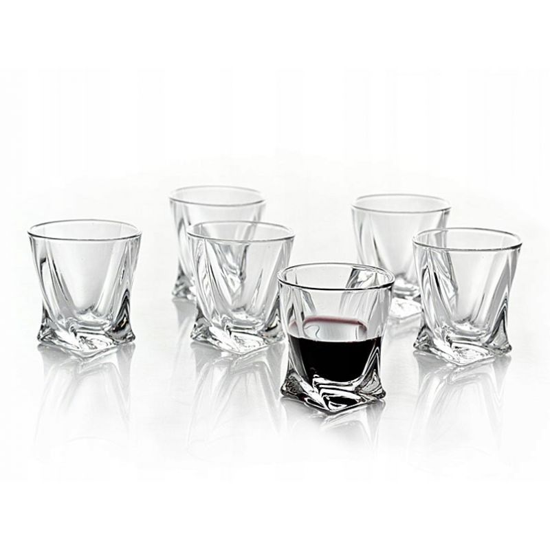 Drammeglass Crystalite Quadro 5,5 cl - 6 deler