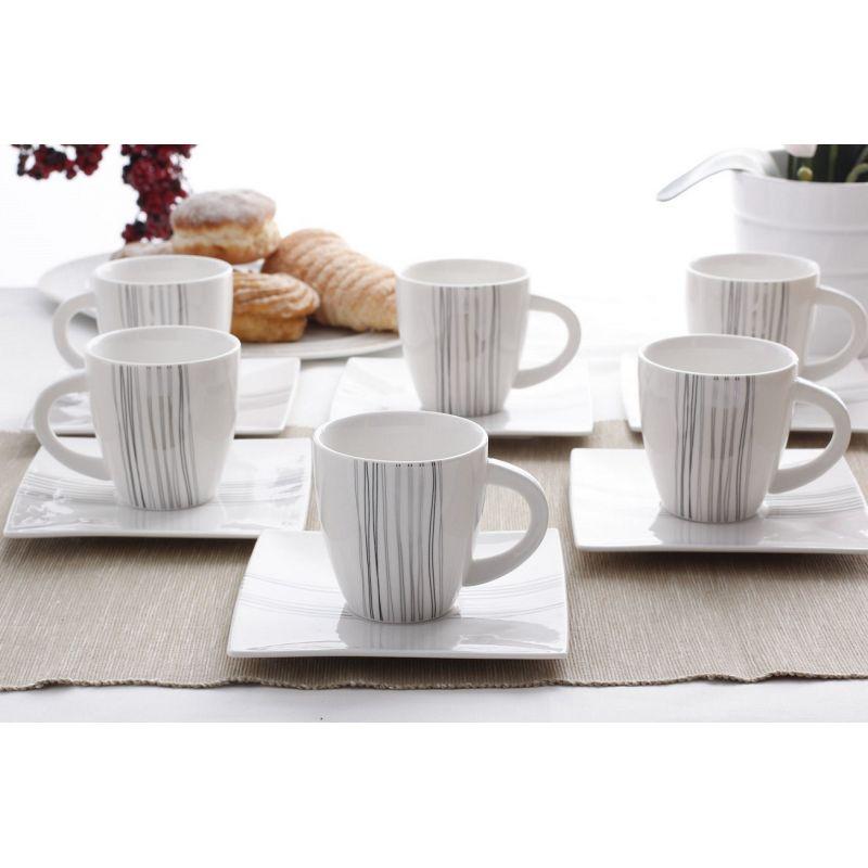Silver Line - kaffeservise til 6 personer, 15 deler