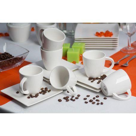 White - kaffeservise til 6 personer, 15 deler