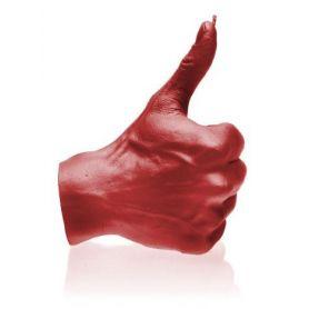 Hånd OK rød - 17,5 cm
