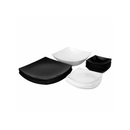 Quadrato - middagsservise til 6 personer, 19 deler