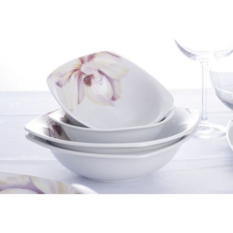 Akcent Paeonia - middagsservise til 12 personer, 45 deler