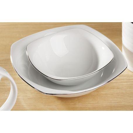 Akcent Platina - middagsservise til 12 personer, 42 deler