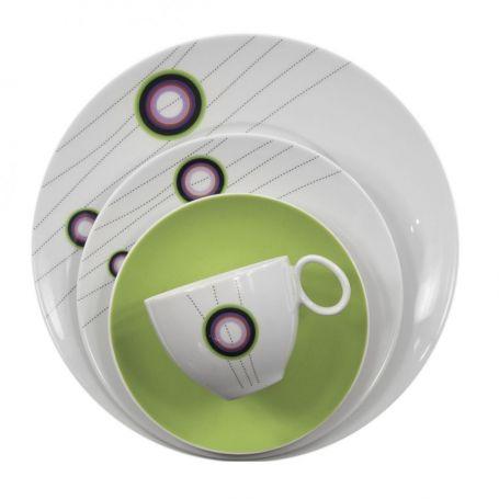 Quebec Klokke - kaffeservise til 12 personer, 39 deler