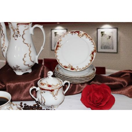 Rococo Purpur - kaffeservise til 12 personer, 39 deler