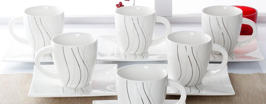 Kopper sett: elegante kaffekopper