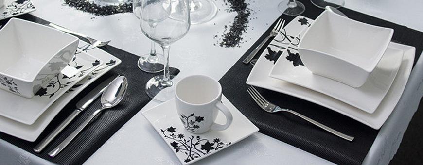 Porselen, servise sett: elegante, billig